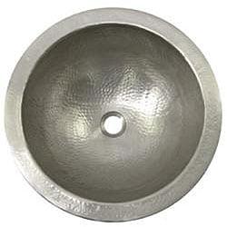 Shop Large Round Copper Flat Lip Pewter Finish Bathroom