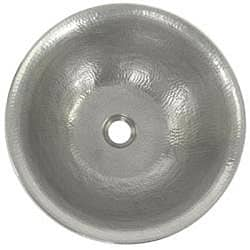 Copper Pewter Finish Vessel Bathroom Sink