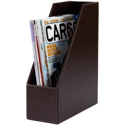 Dacasso 3200 Series Leather Magazine Rack - Thumbnail 1