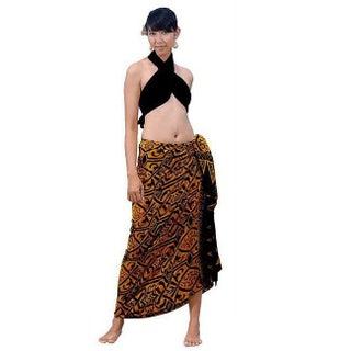 Handmade 1 World Sarongs Women's Abstract Tribal Sarong (Indonesia)