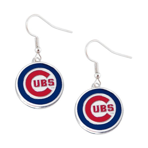 MLB Chicago Cubs Dangle Logo Earrings