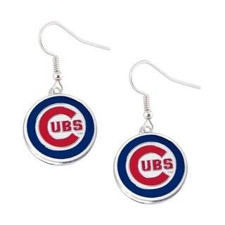MLB Chicago Cubs Dangle Logo Earrings