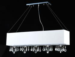 5-light Rectangular Chrome Crystal Chandelier - Thumbnail 1