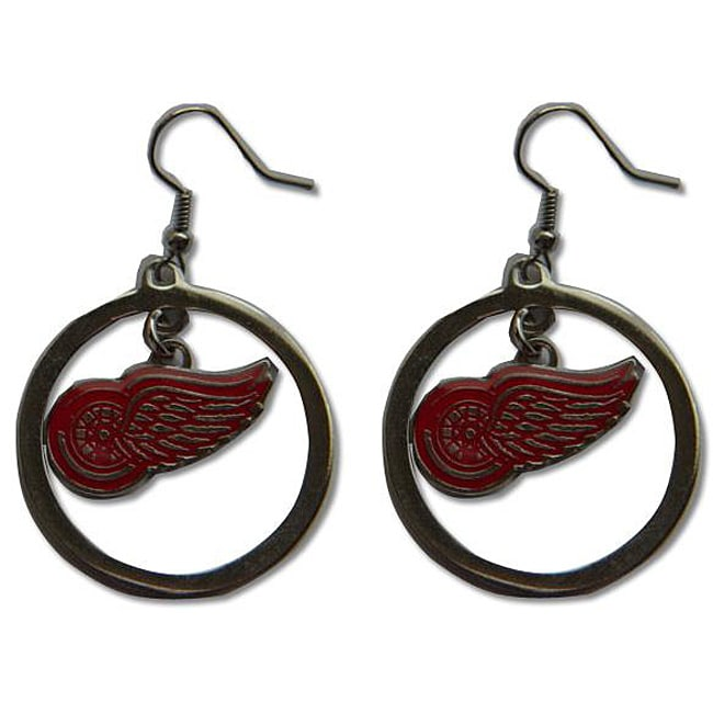 Detroit Red Wings NHL Hoop Logo Earrings