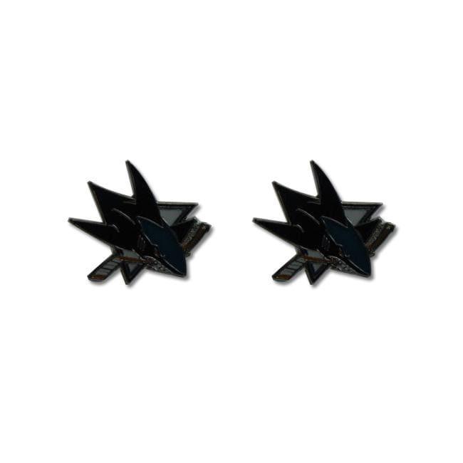 San Jose Sharks NHL Post Stud Logo Earrings