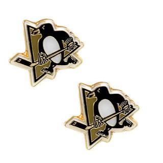 Pittsburgh Penguins NHL Post Stud Logo Earrings