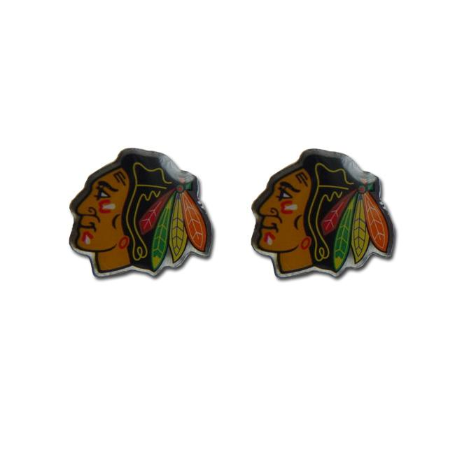 Chicago Blackhawks NHL Post Stud Logo Earrings
