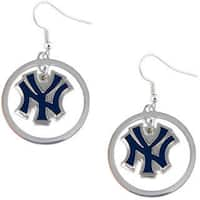 New York Yankees Dangle Logo Hoop Earrings