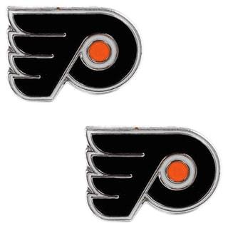 NHL Philadelphia Flyers Post Stud Logo Earrings