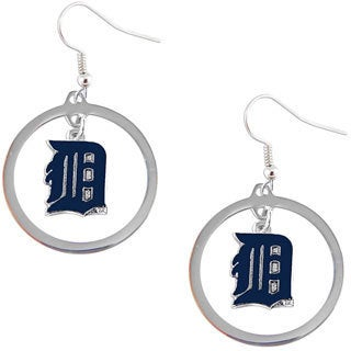 Detroit Tigers Dangle Logo Earrings