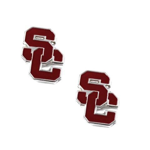 USC Trojans Post Stud Logo Earrings