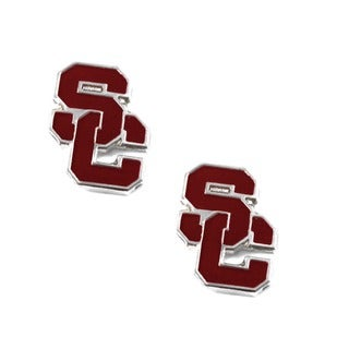 USC Trojans Post Stud Logo Earrings