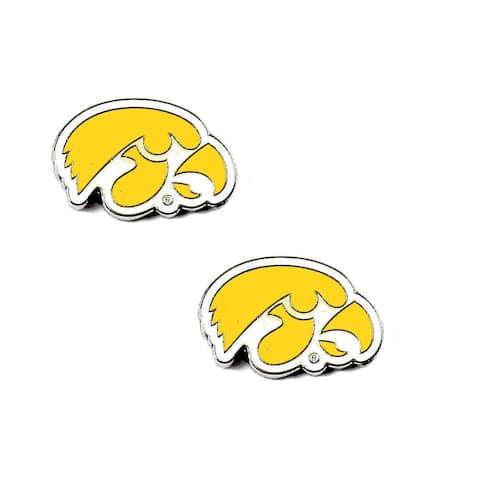 Iowa Hawkeyes Post Stud Logo Earrings