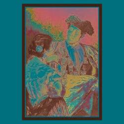 Mary Cassatt 'Toreador with Young Girl' Framed Art - Thumbnail 1