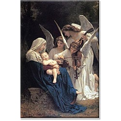 William-Adolphe Bouguereau 'Song of the Angels' Canvas Art