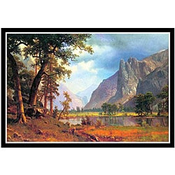 Albert Bierstadt 'Yosemite Valley' Framed Print Art