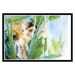 Alma-Tadema 'A Beautiful Flower' Framed Print Art - Thumbnail 1