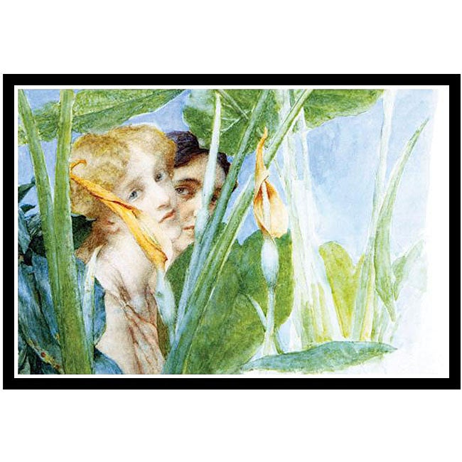 Alma-Tadema 'A Beautiful Flower' Framed Print Art