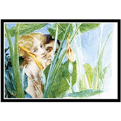 Alma-Tadema 'A Beautiful Flower' Framed Print Art - Thumbnail 0