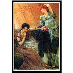 Alma-Tadema 'Unconscious Rivals' Framed Print Art