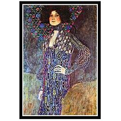 Gustav Klimt 'Portrait of Emily Fidge' Framed Art Print