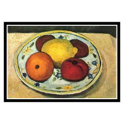 Paula Modersohn-Becker 'Still Life Fruit' Framed Print Art - Thumbnail 1