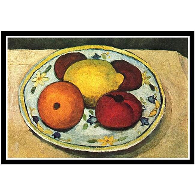 Paula Modersohn-Becker 'Still Life Fruit' Framed Print Art