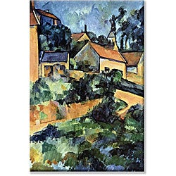 Paul Cezanne 'Road Curve in Montgerout' Canvas Art