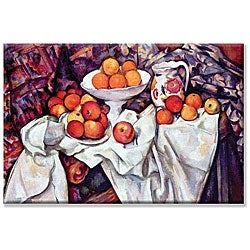 Paul Cezanne 'Still Life With Apples & Oranges' Canvas Art