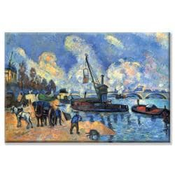Paul Cezanne 'Seine at Bercy' Canvas Art - Thumbnail 1