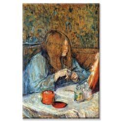 Toulouse-Lautrec 'Madam Poupoule on the Toilet' Canvas Art - Thumbnail 1