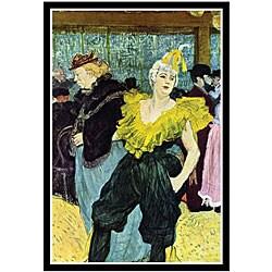 Toulouse-Lautrec 'The Clowness' Framed Art Print