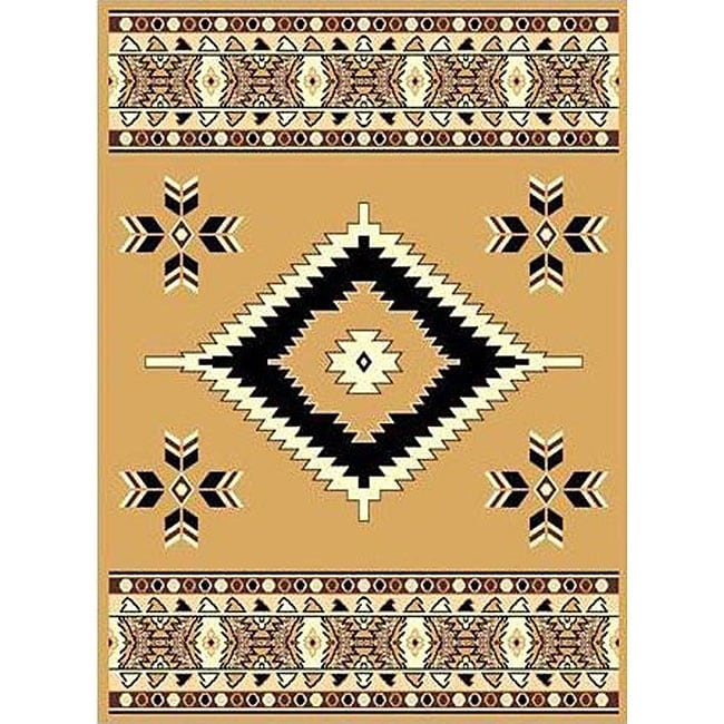 Berber Beige Southwestern Rug (5' x 8')