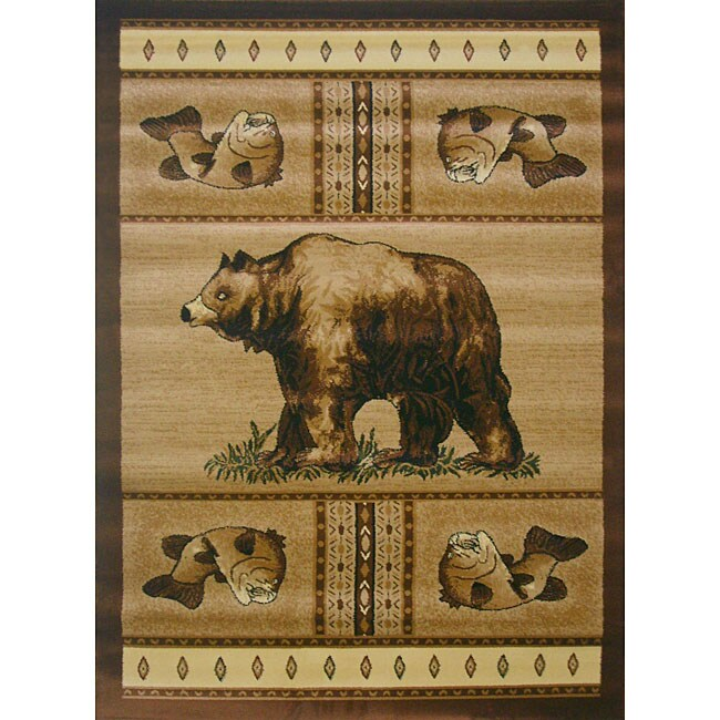 The Lodge Bear Beige Southwestern Rug - 8' x 11'