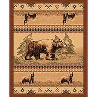 The Lodge Bears Southwestern Rug - 4' x 6'