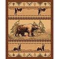 The Lodge Bears Southwestern Rug - 5' x 8'