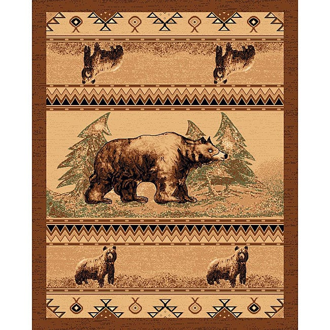 The Lodge Bears Southwestern Rug - 8' x 11'