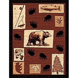 The Lodge Bear Paw Southwestern Rug (4' x 6')