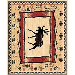 The Lodge Moose Prints Southwestern Rug (4' x 6')