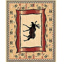 The Lodge Moose Prints Southwestern Rug - 4' x 6'
