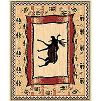 The Lodge Moose Prints Southwestern Rug (5' x 8')