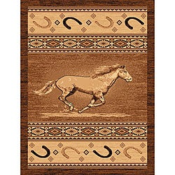 The Lodge Horse Southwestern Rug (4' x 6')