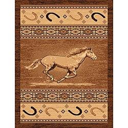 The Lodge Horse Southwestern Rug - 5' x 8' - Thumbnail 0