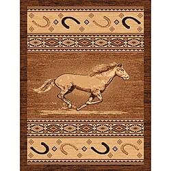 The Lodge Horse Southwestern Rug (8' x 11')