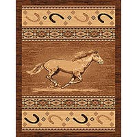 The Lodge Horse Southwestern Rug - 8' x 11'