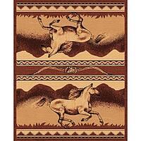 The Lodge Horses Southwestern Rug - 5' x 8'