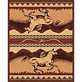 The Lodge Horses Southwestern Rug - 8' x 11'