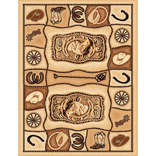The Lodge Horseshoe Southwestern Rug (4' x 6')