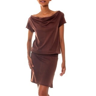 Cotton 'Casual Chocolate' Dress (Indonesia)