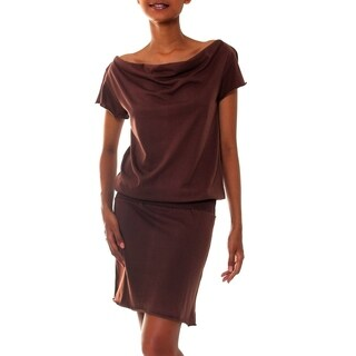 Cotton 'Casual Chocolate' Dress (Indonesia) (3 options available)